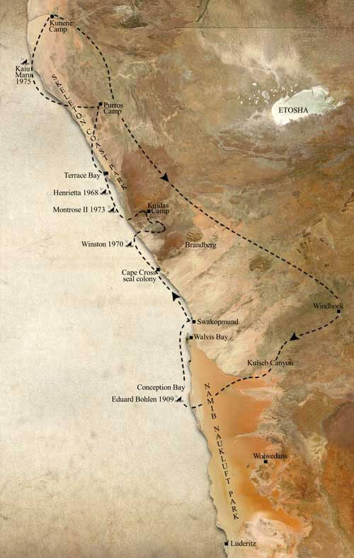 Skeleton Coast - Safari A Route Map